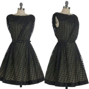 Byron Lars ballerina print black dress w/o belt